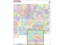 New Mexico Zip Codes Map