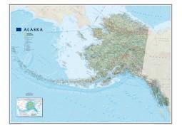 Alaska Wall Map, laminated