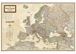 National Geographic 'My Europe' Personalized Map (Earth-toned)