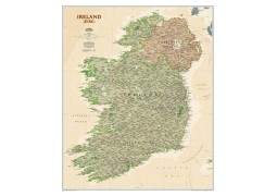 National Geographic 'My Ireland' Personalized Map (Earth-toned)