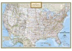 National Geographic 'My U.S.' Personalized Map (Classic)