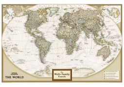 National Geographic 'My World' Personalized Map (Earth-toned)