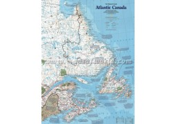 The Making of Atlantic Canada Wall Map