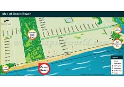 Ocean Beach Map - Digital File