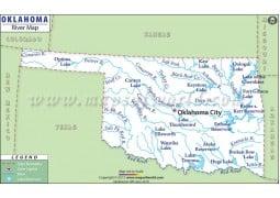 Oklahoma River Map - Digital File