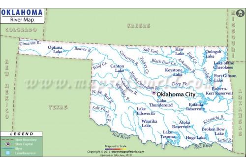 Oklahoma River Map
