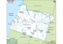 Oregon River Map - Digital File