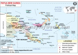 Political Map of Papua New Guinea - Digital File