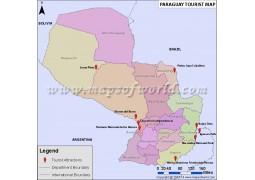 Paraguay Travel Map - Digital File