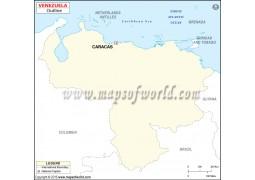 Blank Map of Venezuela