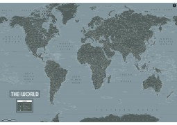 World Map Art-Deco