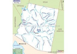 Arizona River Map