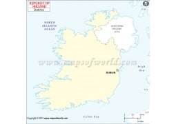 Ireland Outline Map