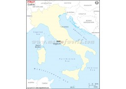 Italy Outline Map