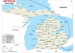 Michigan State Map