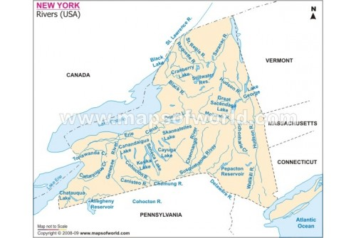 New York River Map