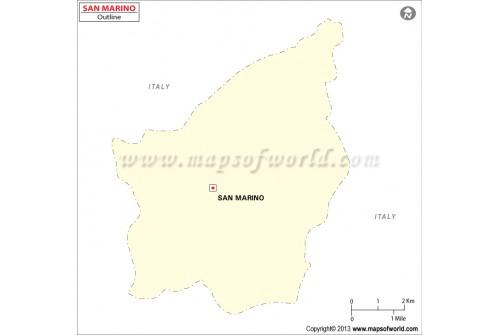 San Marino Blank Map