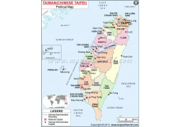 Taiwan Political Map