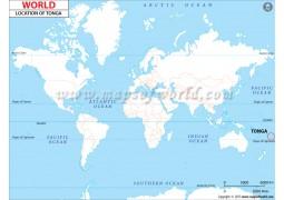 Tonga Location Map