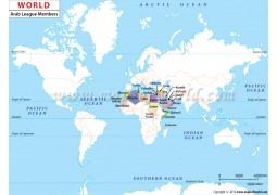 Arab League Members Map