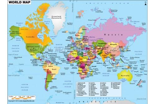 Printed World Map