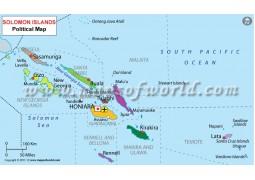 Solomon Islands Political Map