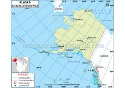 Alaska Latitude Longitude Map