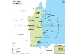 Belize Road Map
