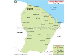French Guiana Road Map