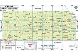 Kansas Latitude Longitude Map
