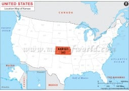 Kansas Location Map