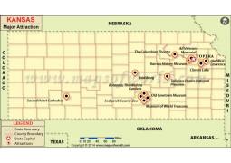 Kansas Major Attraction Map