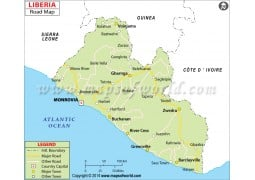 Liberia Road Map