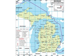 Michigan Latitude Longitude Map