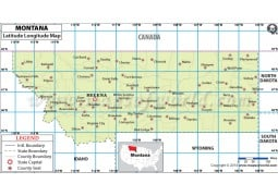 Montana Latitude Longitude Map