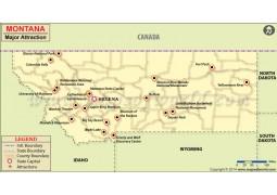 Montana Major Attraction Map