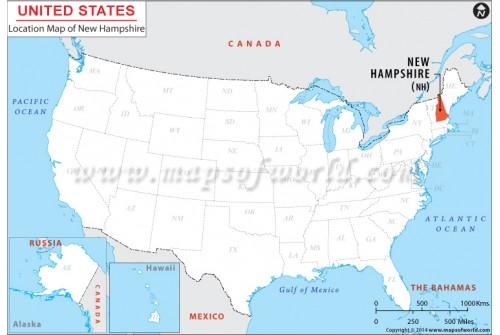 New Hampshire Location Map