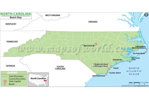 North Carolina Beach Map