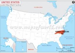 North Carolina Location Map