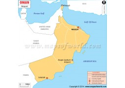 Oman Airport Map