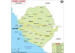 Sierra Leone Road Map
