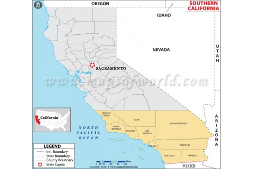 Map ofSouthern California
