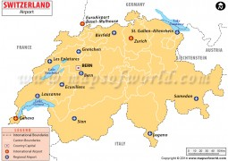 Switzerland Airports Map