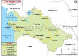 Turkmenistan Road Map