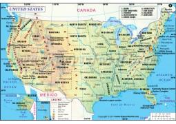 Printed US Map