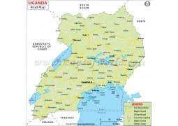Uganda Road Map