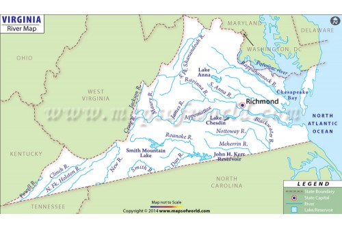 Virginia River Map