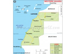 Western Sahara Road Map