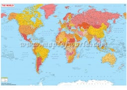 Large World Map with Cities