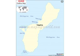 Guam Outline Map